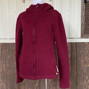 Bench. red full zip jacket size S
